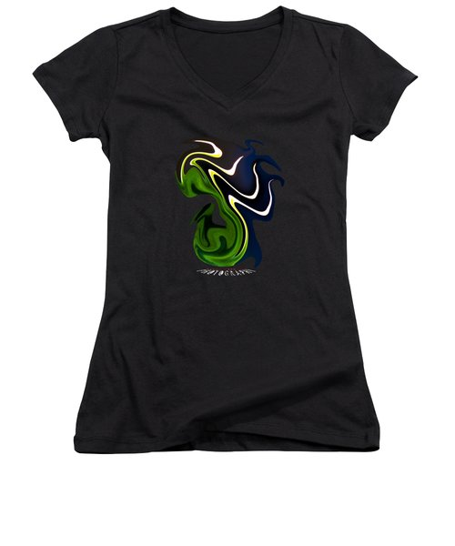 Dancing Transparency Women's V-Neck (Athletic Fit)