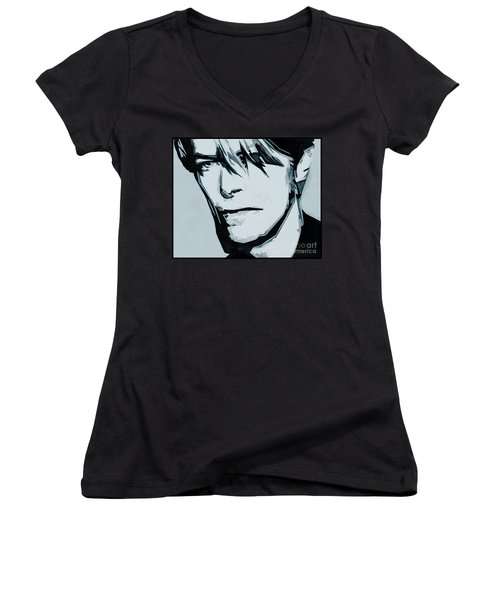 Born Under A Stone Born With A Single Voice. Bowie Women's V-Neck