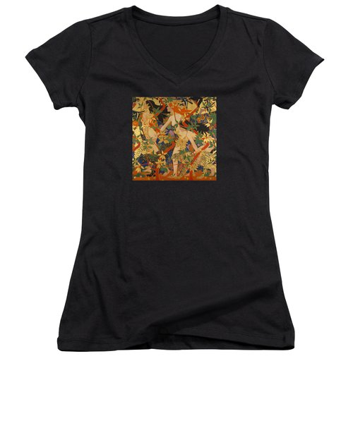 Diana And Her Nymphs Women's V-Neck T-Shirt
