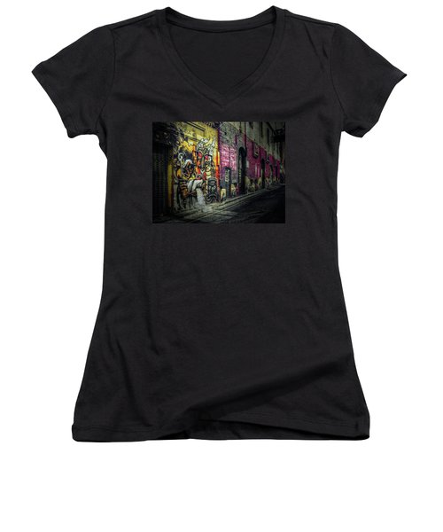 Dreamscape Women's V-Neck T-Shirt (Junior Cut) by Wayne Sherriff