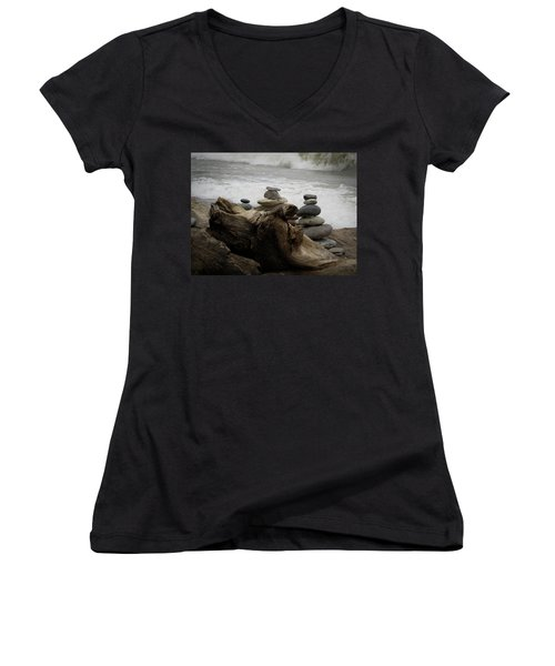 Driftwood Cairns Women's V-Neck (Athletic Fit)
