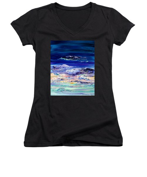 Dusk Imagining Women's V-Neck T-Shirt (Junior Cut) by Regina Valluzzi