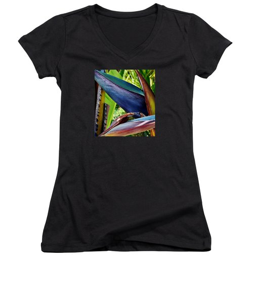 Women's V-Neck T-Shirt (Junior Cut) featuring the photograph Exotic by Werner Lehmann