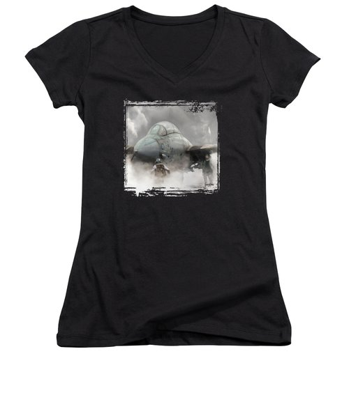 F-14 Smokin' Hot Women's V-Neck T-Shirt