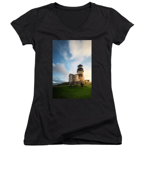 First Light Women's V-Neck T-Shirt (Junior Cut) by Ryan Manuel