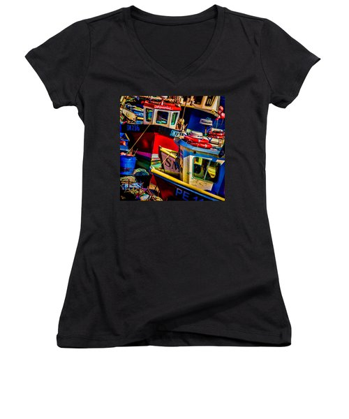 Fishing Fleet Women's V-Neck T-Shirt