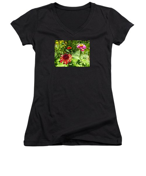 Four Beauties Women's V-Neck T-Shirt