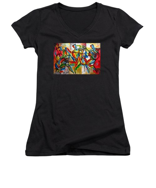 Free Jazz Women's V-Neck (Athletic Fit)