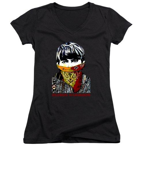 George Harrison Women's V-Neck T-Shirt