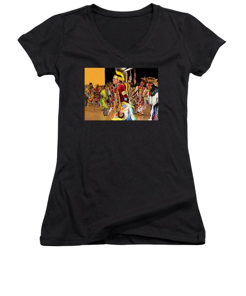 Grand Entrance Women's V-Neck T-Shirt (Junior Cut) by Audrey Robillard
