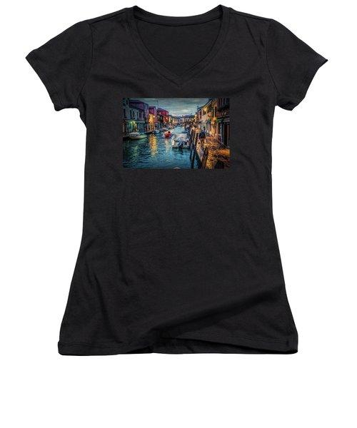 Heading For Home. Women's V-Neck T-Shirt (Junior Cut) by Brian Tarr