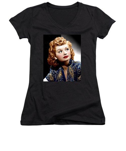 I Love Lucy Women's V-Neck