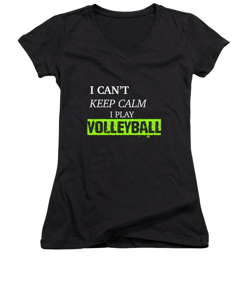 I Play Volleyball Women's V-Neck T-Shirt (Junior Cut) by Meli Mel