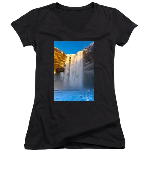 Women's V-Neck T-Shirt (Junior Cut) featuring the photograph Iceland  by Mariusz Czajkowski