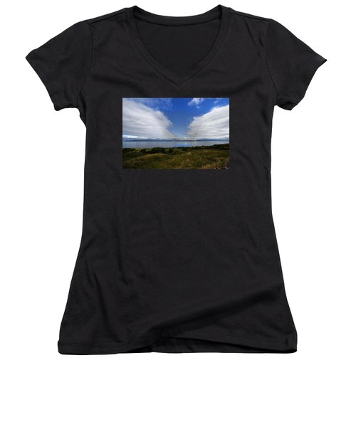 Irish Sky - Ring Of Kerry, Dingle Bay Women's V-Neck