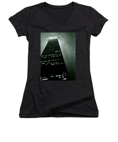 John Hancock Building - Chicago Illinois Women's V-Neck (Athletic Fit)