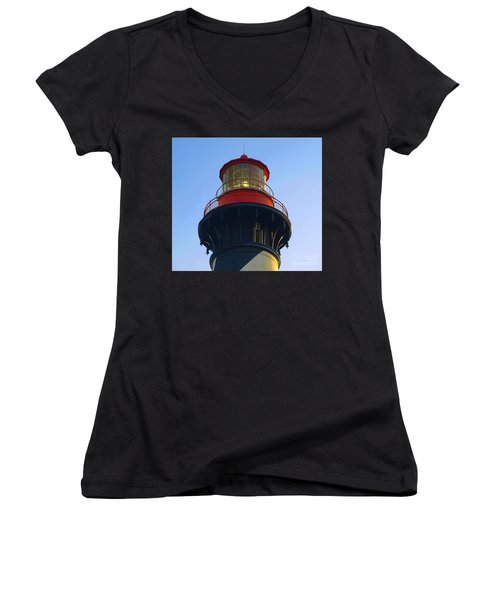 Lighthouse Women's V-Neck T-Shirt (Junior Cut) by Raymond Earley