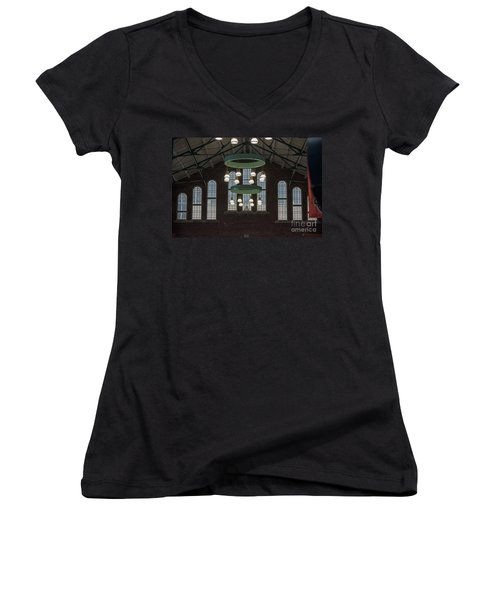 Lights Women's V-Neck T-Shirt (Junior Cut) by Joseph Yarbrough