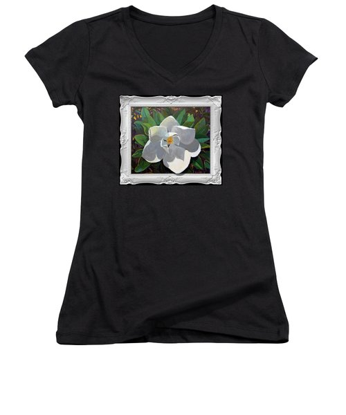 Magic Magnolia Women's V-Neck (Athletic Fit)