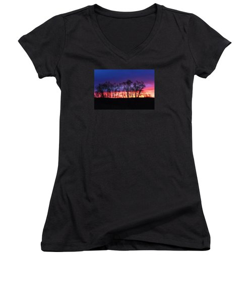 Magical Sunrise Women's V-Neck (Athletic Fit)
