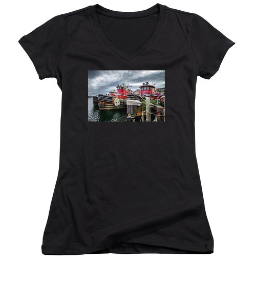 Moran Towing Tugboats Women's V-Neck