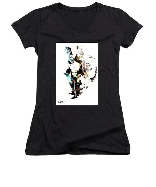 My Form Of Jazz Series 10064.102909 Women's V-Neck T-Shirt (Junior Cut) by Kris Haas