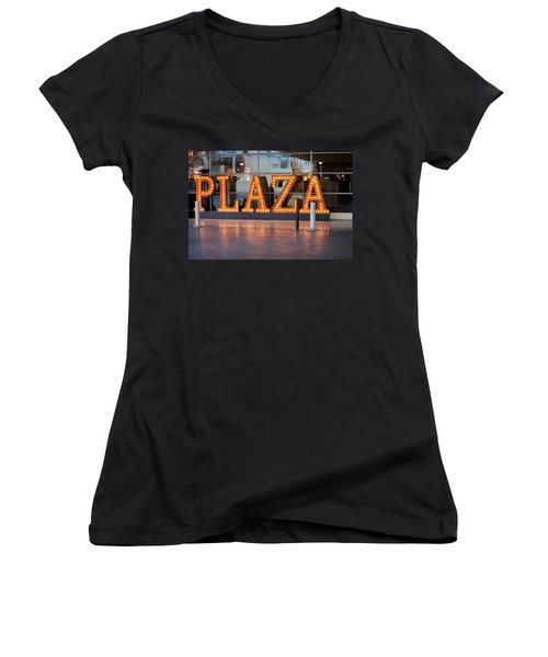 Neon Plaza Women's V-Neck (Athletic Fit)