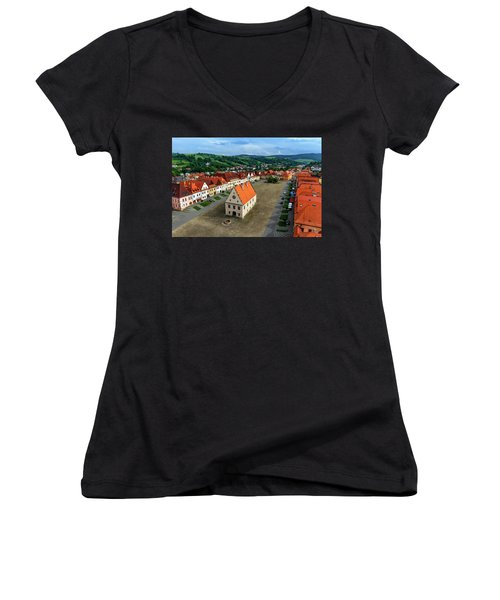 Old Town Square In Bardejov, Slovakia Women's V-Neck (Athletic Fit)