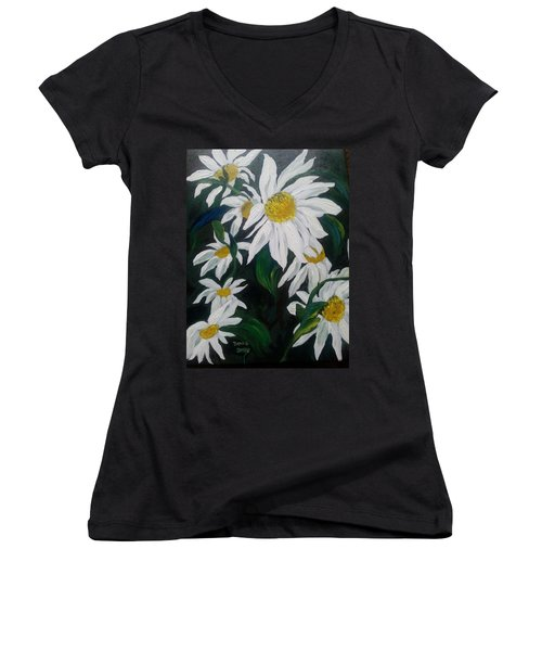 Daisies Women's V-Neck (Athletic Fit)