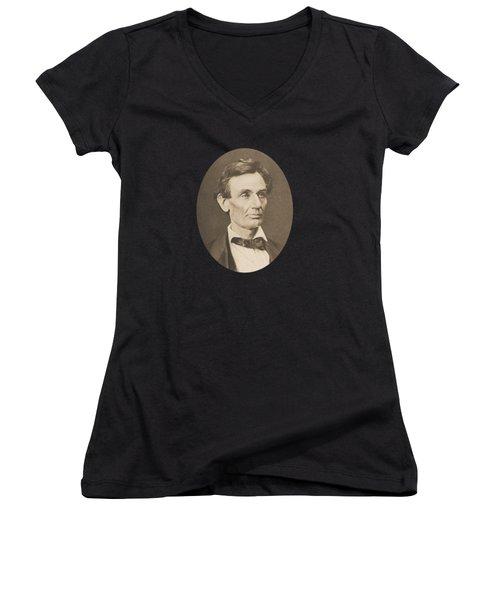 President Abraham Lincoln Women's V-Neck (Athletic Fit)