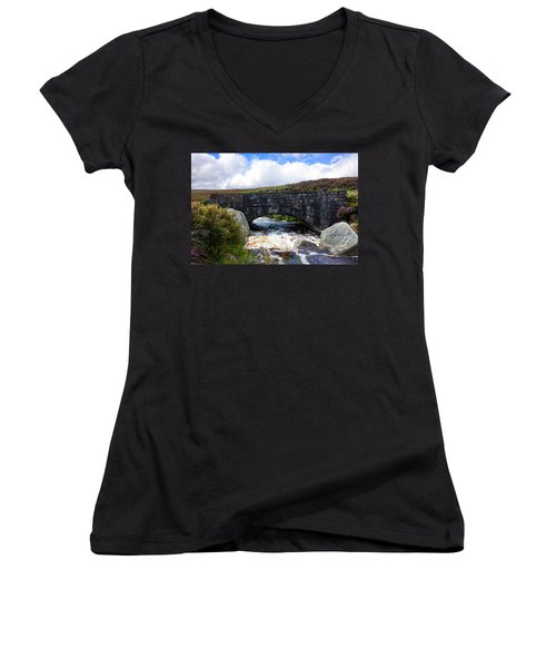 Ps I Love You Bridge In Ireland Women's V-Neck T-Shirt (Junior Cut) by Semmick Photo