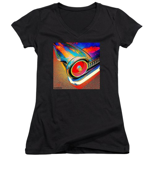 #psychedelic Sunday. There Is Just Women's V-Neck T-Shirt