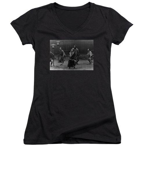 Red Beard Film Still Women's V-Neck T-Shirt