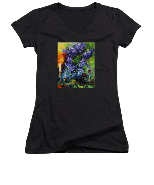 Lilacs Women's V-Neck