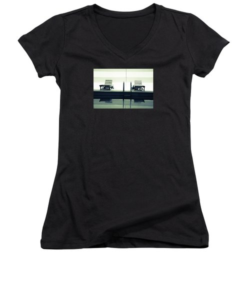 Remember The Day Women's V-Neck T-Shirt (Junior Cut) by Jez C Self