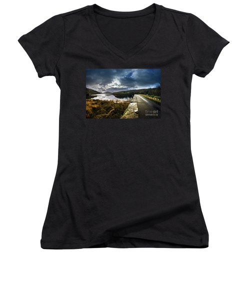 Road To Snowdon Women's V-Neck (Athletic Fit)
