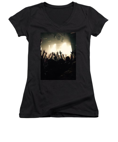 Rock And Roll Women's V-Neck T-Shirt (Junior Cut)