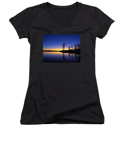 Sand Harbor Sunset Women's V-Neck