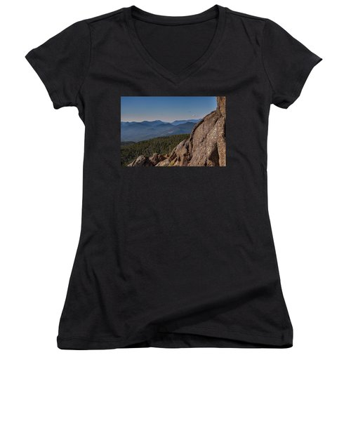 Sandwich Range From Mount Chocorua Women's V-Neck (Athletic Fit)