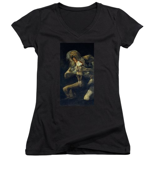 Saturn Devouring His Son Women's V-Neck (Athletic Fit)