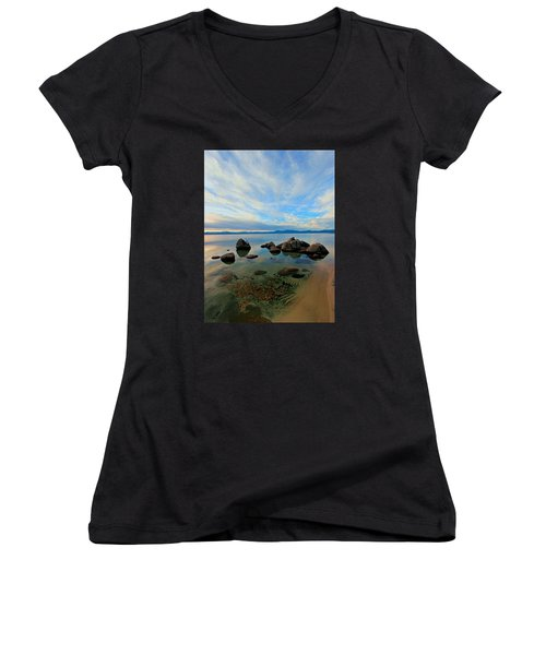 Serenity  Women's V-Neck T-Shirt (Junior Cut) by Sean Sarsfield