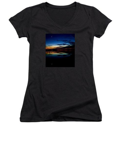 Shades Of Calm Women's V-Neck T-Shirt (Junior Cut) by William Bartholomew