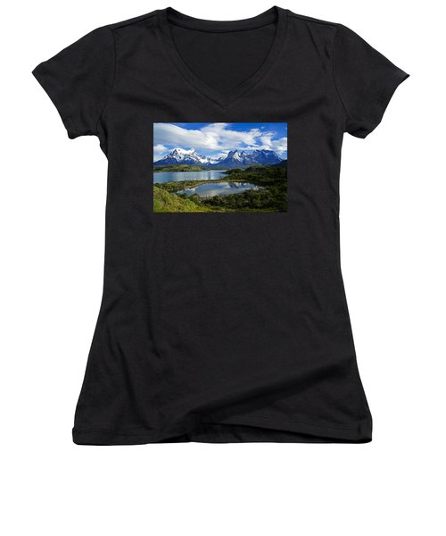 Springtime In Patagonia Women's V-Neck (Athletic Fit)