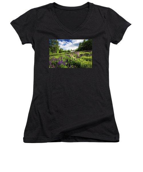 Women's V-Neck T-Shirt (Junior Cut) featuring the photograph Sugar Hill by Robert Clifford