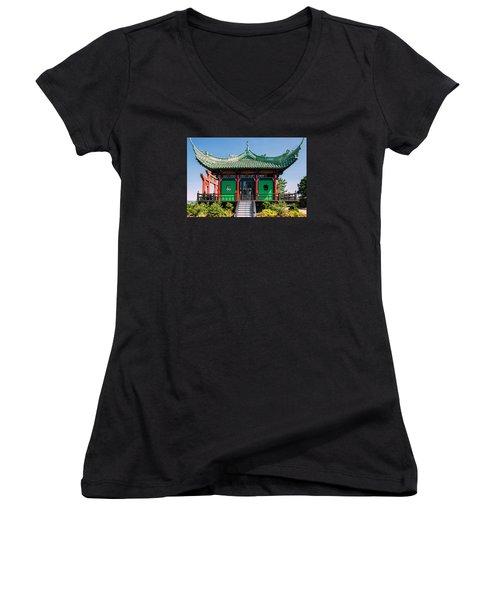 The Chinese Tea House Women's V-Neck