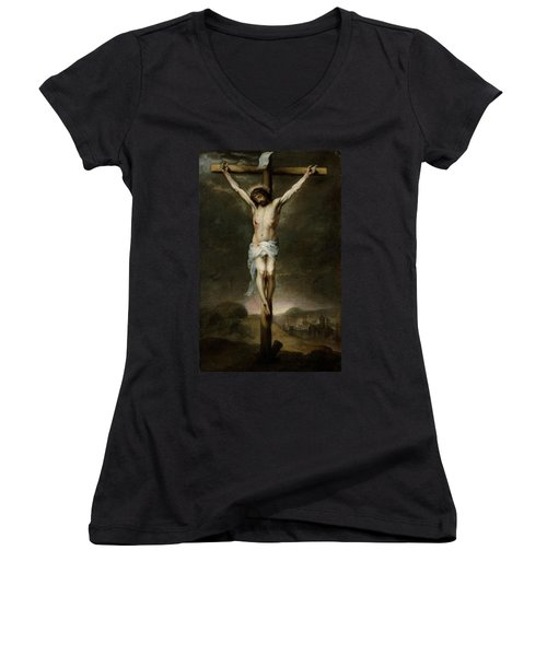 The Crucifixion Women's V-Neck