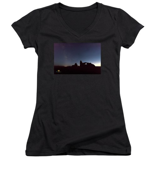 Women's V-Neck featuring the photograph The Milky Way by Jim Thompson