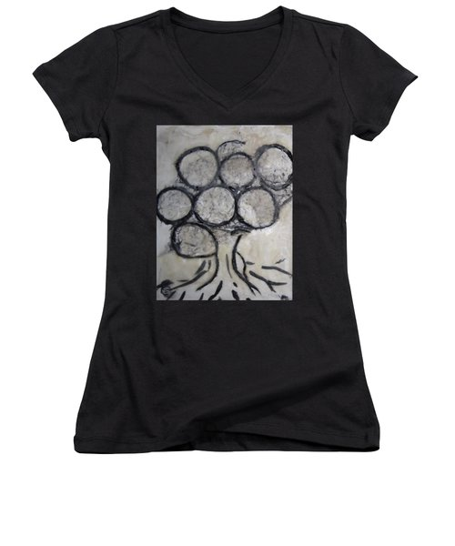 Tree Of Knowledge Women's V-Neck (Athletic Fit)