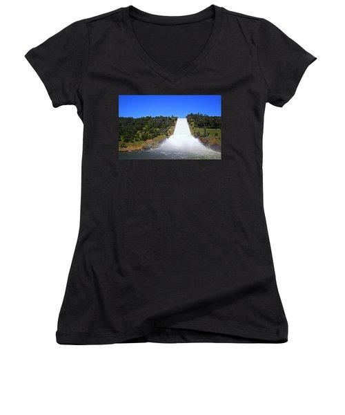 Women's V-Neck T-Shirt featuring the photograph Water by AJ Schibig