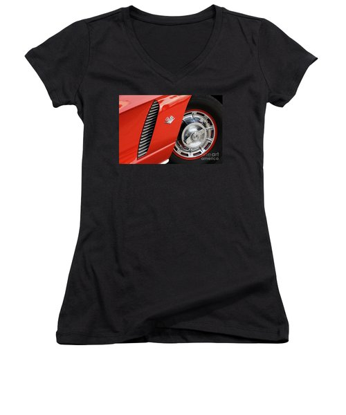 Women's V-Neck T-Shirt (Junior Cut) featuring the photograph Where Were You In '62 by Dennis Hedberg